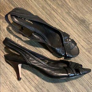 🆕Cole Haan Leather Peep-toe Sandals